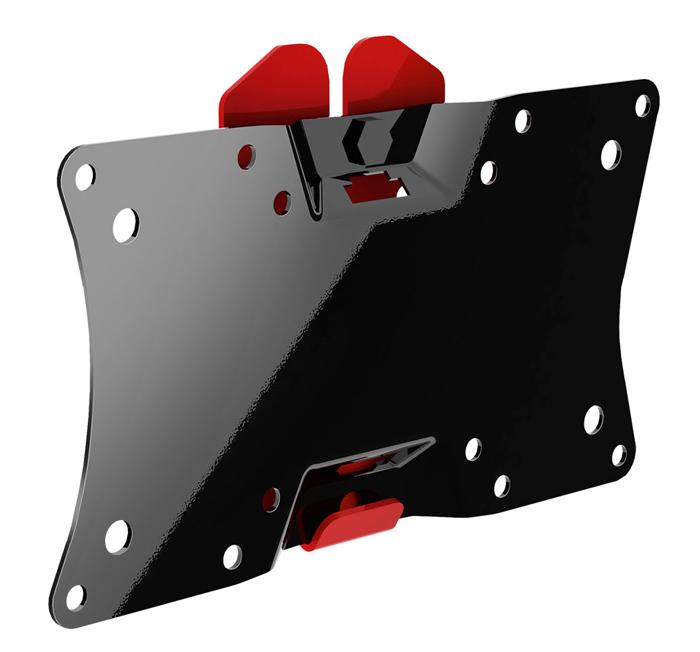 Holder LCDS-5060, Black Gloss кронштейн для ТВLCDS-5060, черный глянецНебольшой функциональный кронштейн для телевизоров Holder LCDS-5060 выдерживает нагрузки до 30 кг. Товар имеет два цвета: черный и красный. Конструкция монтируется к стене на крепежи, которые уже есть в наборе. Установка не вызывает затруднений, что позволяет произвести ее самостоятельно. Кронштейн LCDS-5060 - супертонкий, расстояние от стены всего 18 мм. Товар также имеет функцию наклона телевизора вниз и вверх на 5 градусов, что позволяет установить ТВ в удобное для Вас положение. Продукция Holder высококачественна и безопасна, т. к. механизм надежно удерживает экран телевизора за счет уникальной конструкции.