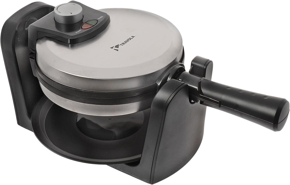 Travola SW86 вафельницаSW86Вафельница Travola SW86 позволит приготовить вкусные вафли в домашних условиях. Прибор имеет мощность 1000 Вт и антипригарное покрытие. Съемный поддон для стока конденсата обеспечит защиту от образующихся при приготовлении капель. Полную информативность о состоянии вафельницы подскажут индикатор питания и готовности к работе.