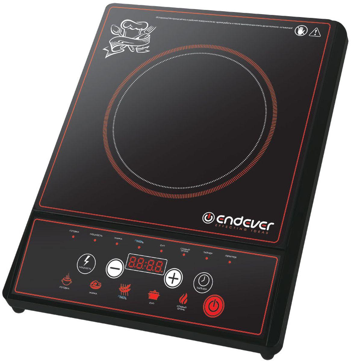 Endever SkyLine DP-40 настольная плитаDP 40Компактная электрическая плитка Endever SkyLine DP-40 отлично подойдет для дачи или офиса. Панель управления оснащена LED-дисплеем и набором клавиш, с помощью которых можно легко выставить необходимый режим работы, задать время и температуру приготовления. В памяти плиты заложено 5 стандартных режимов нагрева. Данная модель защищена от скачков напряжения и перегрева. А идеально гладкая поверхность позволит легко отчистить ее от брызг и прочих загрязнений. Таймер включения с интервалом до 24 часов LED - дисплей Размер варочной панели: 26 x 26 см Программы: готовка, жарка, гриль, суп, слабый огонь