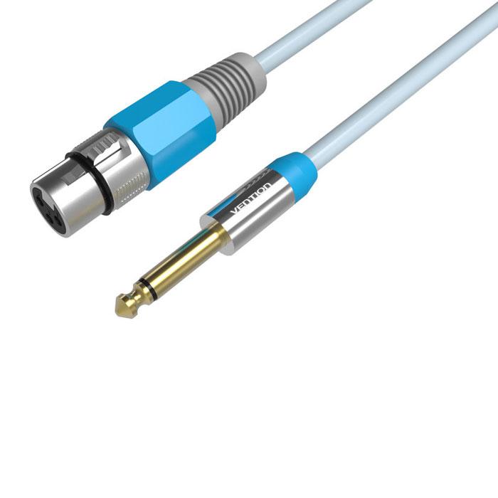 Vention VAB-K01-S800 аудиокабель Jack 6.35 M-XLR FVAB-K01-S800Кабель Vention предназначен для передачи аналоговых моно звуковых сигналов между аудио, аудио-видео и (или) компьютерными устройствами или их компонентами. С помощью данного кабеля вы можете коммутировать профессиональное Hi-Fi и High-End оборудование. Продукция соответствует следующим сертификатам: RoHS, CE, FCC, TIA, ISO Тип оболочки: ПВХ - экранированный Сечение жилы: 26 AWG