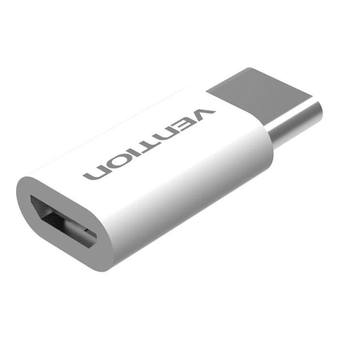 Vention VAS-S10-W, White адаптер-переходник USB Type C M-USB 2.0 micro B 5pin F