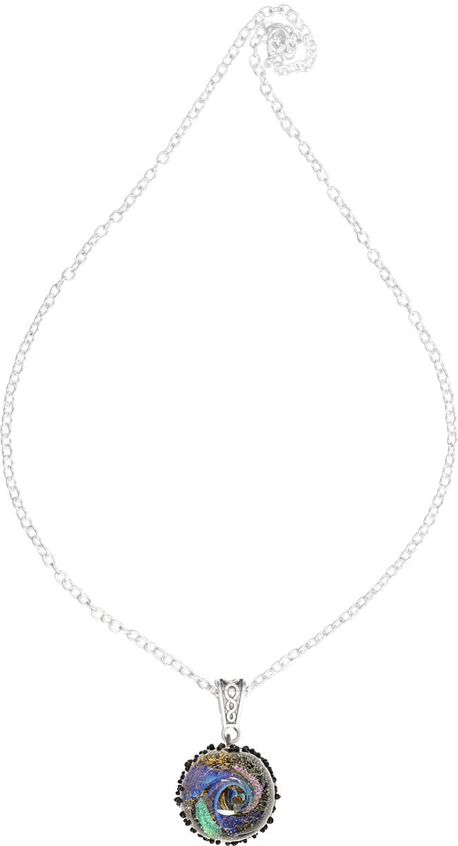 Кулон Lampwork Пояс атероидов. Ручная авторская работаPD501Кулон полусфера из прозрачного стекла. Внутри цветное объемное изображение. 2, 4 см