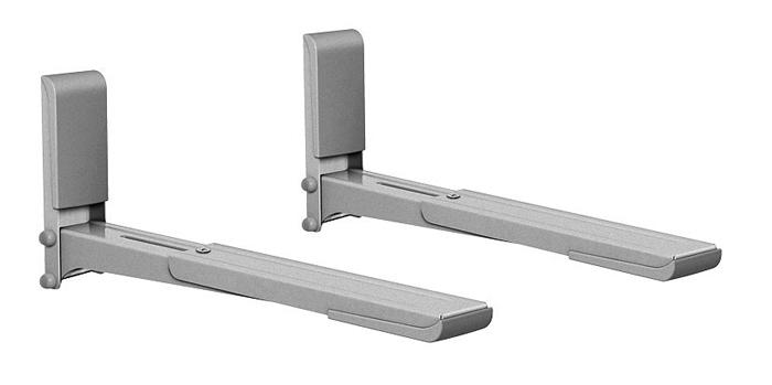 Holder MWS-2003, Metallic кронштейн для СВЧMWS-2003 металликHolder MWS-2003 - это универсальный кронштейн для СВЧ-печей с максимальной нагрузкой 40 кг. Особенности: · Консоли кронштейна выдвигаются на 15 см, благодаря чему кронштейн совместим с большинством моделей СВЧ-печей. · Отрицательный угол наклона консоли гарантирует безопасность СВЧ-печи. · Кронштейн прошел испытания статической нагрузкой 60 кг. · Техника, установленная на кронштейн, застрахована производителем. · Пластиковые накладки на основании и консолях делают кронштейн гармоничным дополнением к технике. · В набор входят все необходимые крепежи и инструкция по установке.