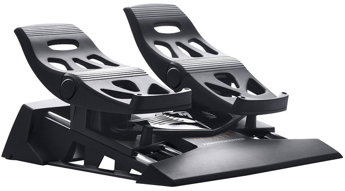 Thrustmaster TFRP Rudder дополнительные авиа-педали для PC/PS3/PS4 (2960764)2960764Thrustmaster TFRP Rudder - это дополнительные педали для авиа-симуляторов на платформах PS3, PS4 и PC. Это первый руль направления с системой направляющих рельсов S.M.A.R.T для плавного управления. Модель имеет эргономичный дизайн с упорами для пяток, позволяющий целиком поставить ногу на педаль. Система из четырех направляющих рельсов из алюминия промышленного класса обеспечивает превосходное скольжение. Педаль с длиной хода 15° нажимается под уклоном во избежание случайной активации тормоза при использовании руля направления. Продвинутое ПО T.A.R.G.E.T для ПК обеспечивает программирование осей рулей направления и дифференциальных тормозов. Особенности: Большие дифференциальные педали тормоза: 25 см (45-й размер обуви). При снятом упоре для пятки можно управлять рулем подушками стоп, уперев пятки в пол. При установленном упоре для пятки стопу можно полностью поставить на педаль.