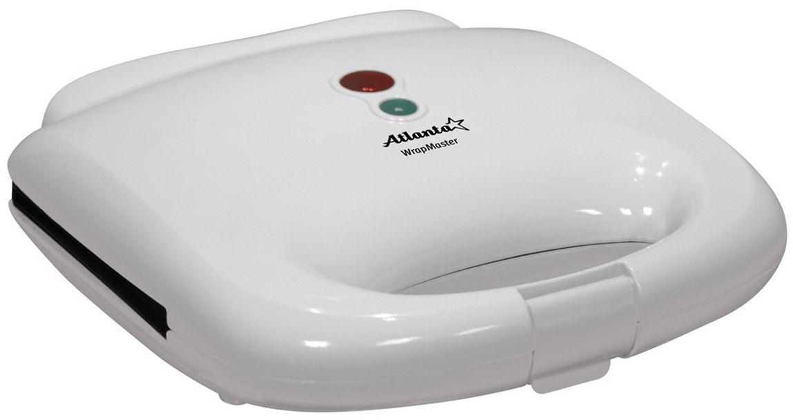 Atlanta ATH-170 сэндвичницаATH-170Антипригарное покрытие Фиксатор Хранение в вертикальном положении Защита от перегрева Световой индикатор работы Световой индикатор готовности использования Дополнительная термоизоляция корпуса Мощность 750 Вт 230 В, 50 Гц 22.5 х 22.5 х 8 см