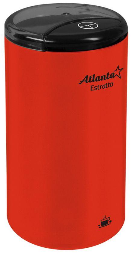 Atlanta ATH-3391, Red кофемолкаATH-3391Высокая однородность помола Защита от случайного включения Ножи из нержавеющей стали Большой объем, до 75 г кофе Изделие сертифицировано Госстандартом РФ Соответствует американским и европейским нормам безопасности Максимальная мощность 180 Вт 230 В, 50 Гц