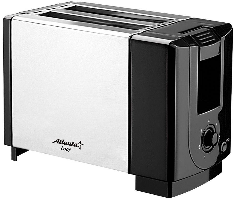 Atlanta ATH-1031 тостерATH-1031Тостер Atlanta ATH-1031 представляет собой сочетание удобства, функциональности и элегантного внешнего вида. Мощность в 750 Вт, простота управления и быстрое приготовление тостов, дополняется возможностью регулировки степени обжарки. Компактное и легкое в управлении устройство позволит приготовить вкуснейшие тосты за считанные минуты стразу на двоих. Вы можете в любой момент остановить процесс поджаривания, просто нажав на соответствующую кнопку. Ухаживать за тостером легко и приятно благодаря наличию поддона для крошек.