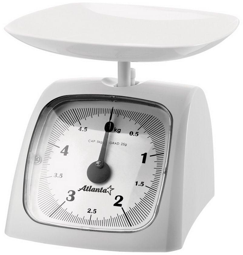 Atlanta ATH-6180, White весы кухонныеATH-6180Весы кухонные Atlanta ATH-6180 — это компактные кухонные весы, которые сделаны из пластика с матовым покрытием.Это классические весы, которые вы можете использовать дома для точного взвешивания.