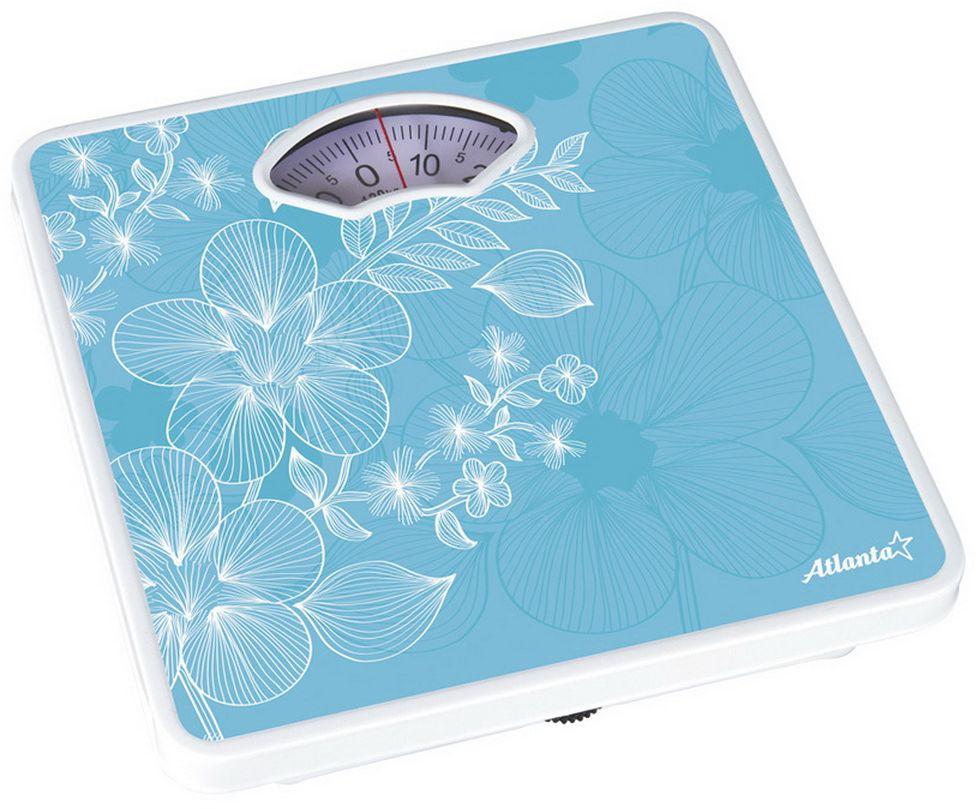 Atlanta ATH-6100, Blue весы напольныеATH-6100Весы Atlanta ATH-6100, Blue - это традиционные весы, которые окажут вам помощь держать себя в форме. Весы выделяются крепкой конструкцией, которая отличается завышенной износостойкостью за счет крепкого корпуса. Эти весы пригодятся в любом доме: помогут смотреть за своим весом или взвесить крупногабаритные вещи. Модель довольно малогабаритная, у вас есть возможность расположить их под кухонным столом либо вблизи со стенкой у холодильника.