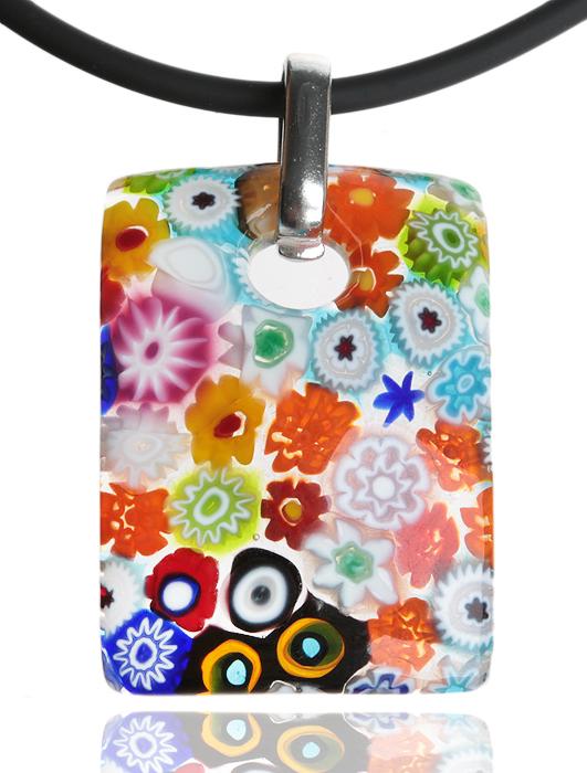 Кулон на шнурке Калейдоскоп. Муранское стекло, шнурок из каучука, ручная работа. Murano, Италия (Венеция)yst10Кулон на шнурке Калейдоскоп. Муранское стекло, шнурок из каучука, ручная работа. Murano, Италия (Венеция). Размер: Кулон - 4 х 3 см. Шнурок - полная длина 45 см. Каждое изделие из муранского стекла уникально и может незначительно отличаться от того, что вы видите на фотографии.