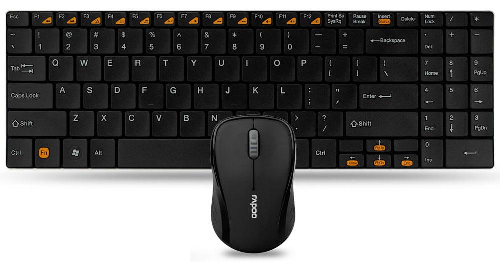 Клавиатура + мышь Rapoo 9060, Black 11340