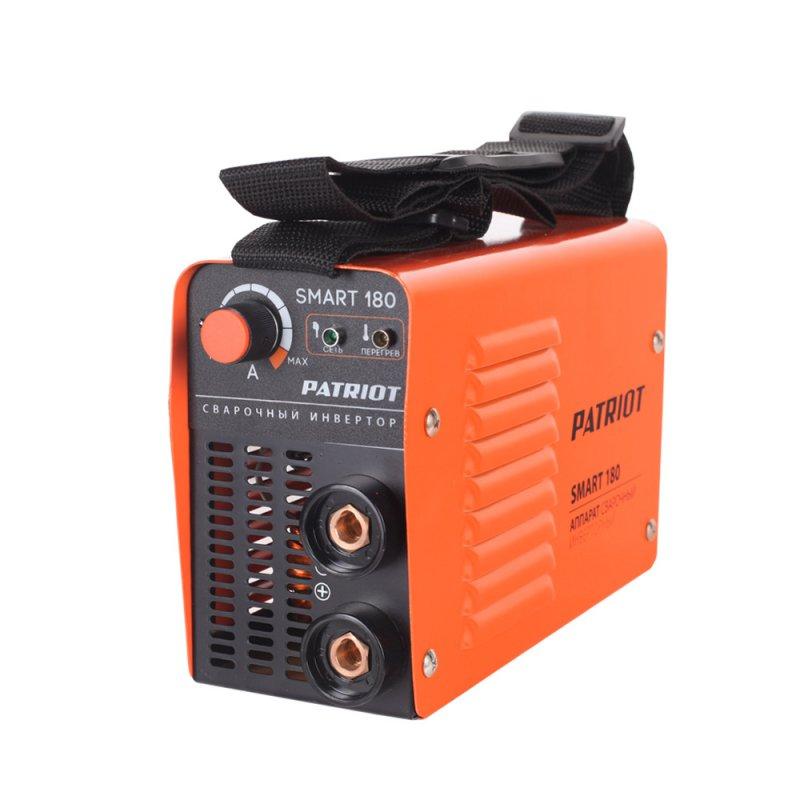 Аппарат сварочный Patriot SMART 180 MMA605301835Компактный сварочный аппарат предназначен для электродуговой сварки плавящимся покрытым электродом при постоянном токе низкоуглеродистой и высокоуглеродистой стали, нержавеющей стали, чугуна. Дополнительные функции облегчают, оптимизируют и ускоряют сварочный процесс. ARC FORCE (сила дуги, жесткость дуги) – оптимизация аппаратом передачи тепловой мощности в процессе сварки. Позволяет проводить сварку очень короткой дугой, что облегчает контроль плавления и улучшение качества сварки. HOT START (горячий старт) – оптимизация зажигания дуги. ANTI STICK (анти-залипание) – оптимизация работы аппарата в случае залипания электрода. комплектация: сварочный щиток, держатель электрода, клемма-земля, щетка-молоток.