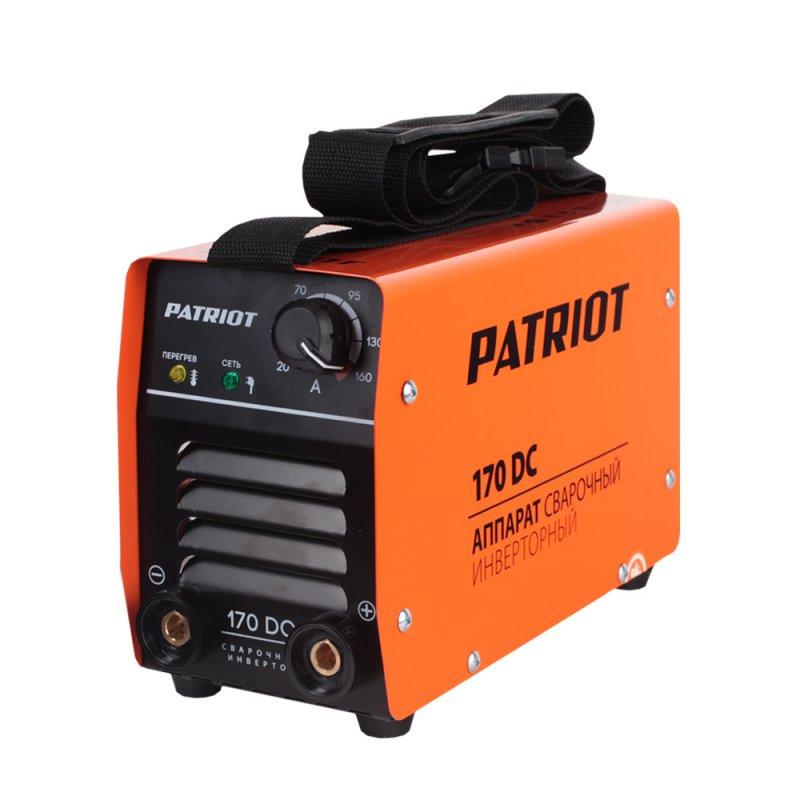 Аппарат сварочный Patriot 170DC MMA605302516Аппараты разработаны для тяжелых эксплуатационных условий. В крепком металлическом корпусе подойдут для работы на стройке, для ремонтных и аварийных работ. Устойчивость к пониженному напряжению делает аппарат пригодным к эксплуатации в отдаленных от города территориях. Специально усиленный входной фильтрующий контур адаптирует аппарат к пониженному напряжению. К работе при неустойчивой сети питания включая электрогенераторные установки. Аппараты просты в управлении, устойчивы к механическим воздействиям, перепадам температур, влажности, пыли, атмосферным осадкам - Гарантированная работа от 140В входного напряжения. - Надежная работа от генератора - Работа при температурном диапазоне -30/+50°C. - Дополнительная защита от дождя и металлической пыли. - Антикоррозийная защита. - Устойчивость к вибрации и падению. - Функции: ARC FORCE, ANTI STICK, HOT START Комплектация: Держатель электрода с кабелем 2.5м, сечение 16 кв. мм, Клемма...