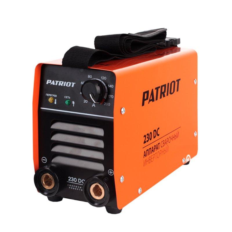 Аппарат сварочный Patriot 230DC MMA605302520Аппараты разработаны для тяжелых эксплуатационных условий. В крепком металлическом корпусе подойдут для работы на стройке, для ремонтных и аварийных работ. Устойчивость к пониженному напряжению делает аппарат пригодным к эксплуатации в отдаленных от города территориях. Специально усиленный входной фильтрующий контур адаптирует аппарат к пониженному напряжению. К работе при неустойчивой сети питания включая электрогенераторные установки. Аппараты просты в управлении, устойчивы к механическим воздействиям, перепадам температур, влажности, пыли, атмосферным осадкам - Гарантированная работа от 140В входного напряжения. - Надежная работа от генератора - Работа при температурном диапазоне -30/+50°C. - Дополнительная защита от дождя и металлической пыли. - Антикоррозийная защита. - Устойчивость к вибрации и падению. - Функции: ARC FORCE, ANTI STICK, HOT START