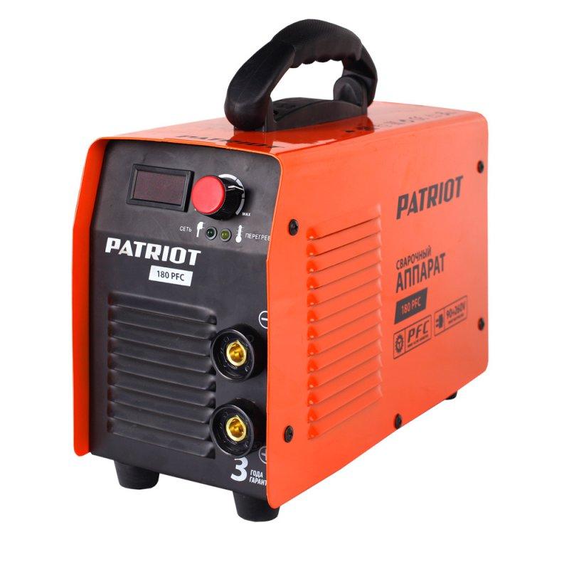 Инвертор сварочный Patriot180 PFC605302130Сварочный аппарат предназначен для электродуговой сварки плавящимся покрытым электродом при постоянном токе низкоуглеродистой и высокоуглеродистой стали, нержавеющей стали, чугуна. Дополнительные функции облегчают, оптимизируют и ускоряют сварочный процесс. Блок активного корректора реактивной мощности APFC компенсирует потери мощности, возникающие в аппарате при появлении реактивных нагрузок на разных деталях аппарата. Эта технология уменьшает суммарную потребляемую аппаратом мощность без потерь на выходе, тем самым позволяет: - использовать сетевой кабель меньшего сечения, - адаптировать работу аппарата с электрогенератором, - уменьшить нагрузку на сеть а также намного расширяет диапазон рабочего напряжения, что дает возможность проводить сварку при пониженном входном напряжении питания.