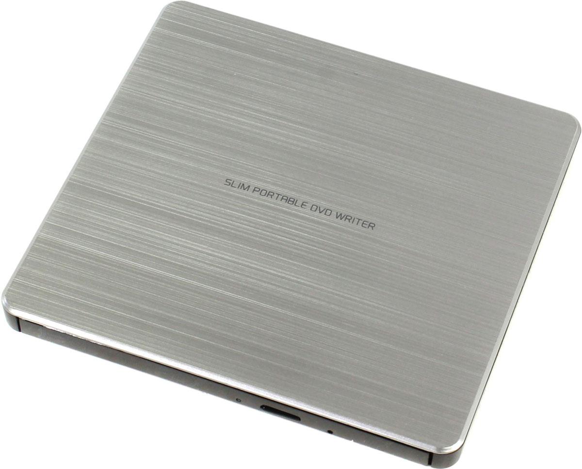 LG GP60NS60, Silver внешний оптический приводGP60NS60Компактный внешний DVD-привод LG GP60NS60 станет отличным решением для ультрабуков и нетбуков, лишенных встроенных оптических приводов. Устройство подключается к персональному компьютеру посредством интерфейса USB 2.0 и поддерживает чтение и запись большинства современных форматов оптических носителей. Данная модель также отличается быстротой и минимальным уровнем шума при работе. Скорость чтения CD-R/RW: 24x Max; DVD-RAM: 5x, DVD+/-RW: 8x/6x; DVD±R SL/DL 8x/6x Скорость записи DVD-Video/ROM: 4x/8x; DVD+R SL/DL/RW: 8x; DVD-RAM: 6x; CD-ROM/R/RW: 24x MTBF: 60 тыс. часов Требования к системе: Pentium IV 2.4 ГГц, ОЗУ 256 Мб, 20 Гб на жестком диске ОС: Windows 8, 7, Windows Vista, Windows XP, Mac OS X 10.5.4