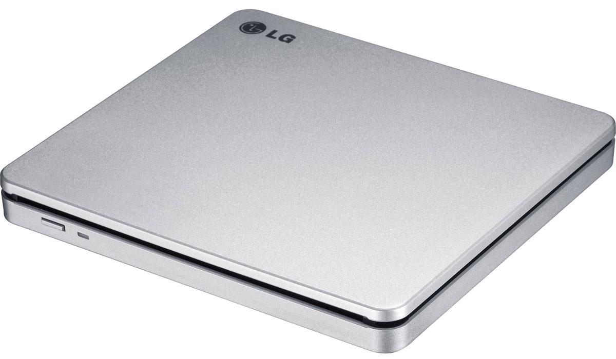 LG GP70NS50, Silver внешний оптический приводGP70NS50Компактный внешний DVD-привод LG GP70NS50 станет отличным решением для ультрабуков и нетбуков, лишенных встроенных оптических приводов. Устройство подключается к персональному компьютеру посредством интерфейса USB 2.0 и поддерживает чтение и запись большинства современных форматов оптических носителей. Данная модель также отличается быстротой и малым уровнем шума при работе. Время доступа DVD: 167 мс, CD: 139 мс, DVD-RAM: 303 мс Скорость чтения DVD-R/RW/ROM 8x/8x/8x m, DVD-R DL 8x m. DVD-Video(CSS Compliant Disc) 4x max (Single/Duallay. DVD+R/+RW 8x/8x m, DVD+R DL 8x max M-DISC , DVD-RAM (Ver.2.2), CD-R/RW/ROM 24x/24x/24x m, CD-DA (DAE) 24x max. Скорость записи CD-R 10x CLV, 16x PCAV, 24x C, CD-RW 4x, 10x CLV. 16x ZCLV.24x, ZCLV(HighSpeed: 10xCLV.UItraSpeed: 24xZCLV, Ultra Speed plus: 24x ZCLV), DVD+R 2.4x CLV, 4x PCAV, 8x C. DVD+R DL 2.4x CLV, DVD+RW2.4x Требования к системе: Pentium IV 2.4 ГГц, ОЗУ 256 Мб, 20 Гб на жестком диске ОС: Windows...