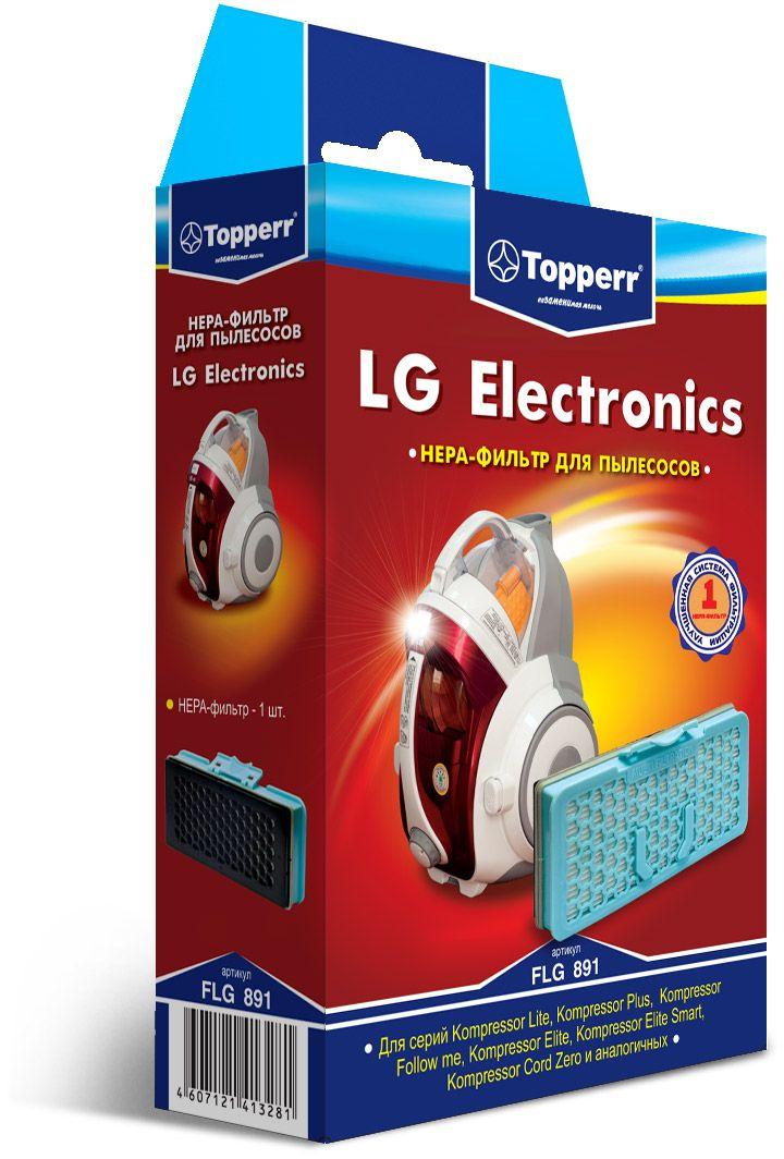 Topperr FLG 891 комплект фильтров для пылесосов LG Electronics1127НЕРА-фильтр Topperr FLG 891 предназначен для пылесосов LG ELECTRONICS серий Kompressor Lite, Kompressor Plus, Kompressor Follow me, Kompressor Elite, Kompressor Elite Smart и аналогичных. НЕРА-фильтр Обладает высочайшей степенью фильтрации, задерживает 99,5% пыли. Благодаря специальной концентрации и свойствам фильтрующего материала, фильтр улавливает мельчайшие частицы, позволяя очищать воздух от пыльцы, микроорганизмов, бактерий и пылевых клещей.