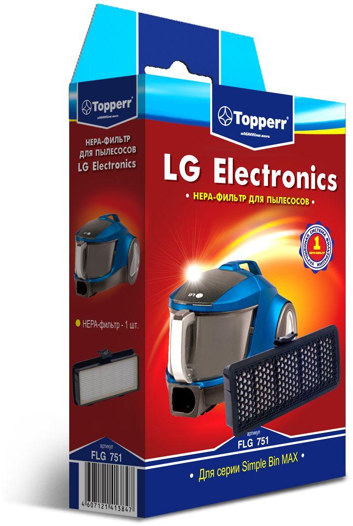 Topperr FLG 751 HEPA-фильтр для пылесосов LG Electronics1144Фильтр Topperr FLG 751 для пылесосов LG ELECTRONICS серии Simple Bin MAX задерживает 99,5% пыли, пылевых клещей, бактерий, продлевая срок службы пылесоса и сохраняет чистоту воздуха.