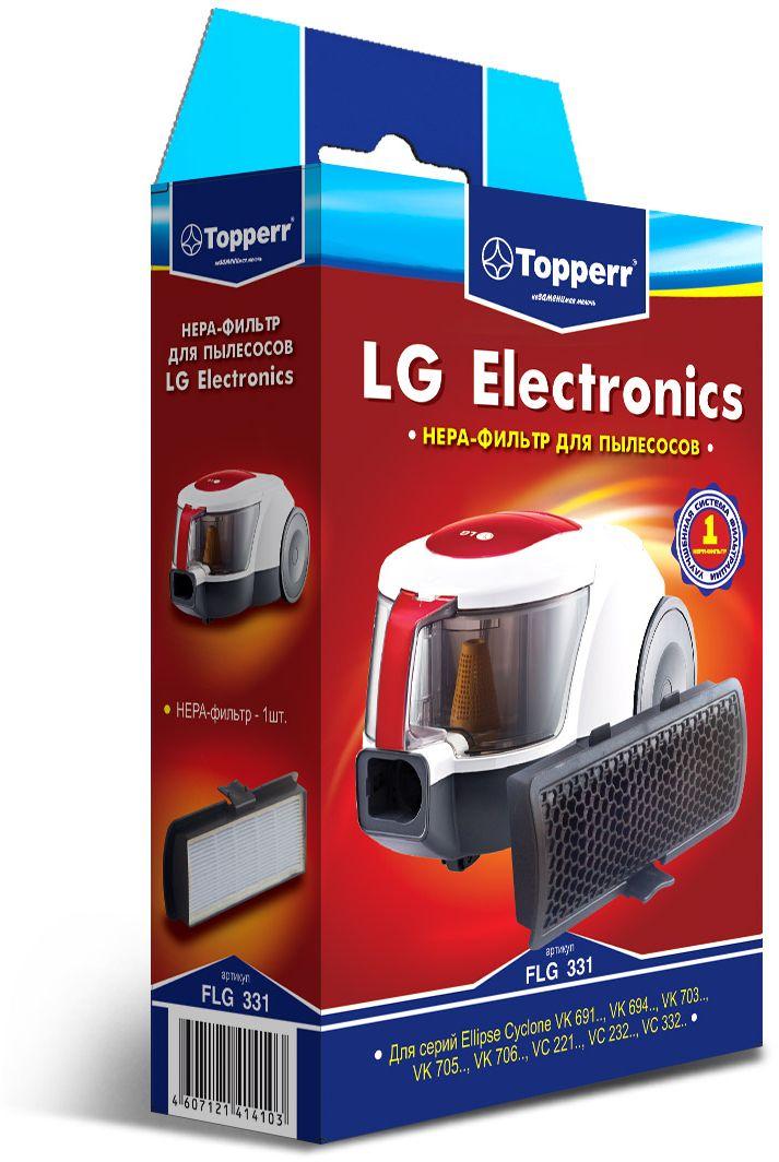 Topperr FLG 331 HEPA-фильтр для пылесосов LG Electronics1149HEPA-фильтр Topperr FLG 331 для пылесосов LG ELECTRONICS. Обладает высочайшей степенью фильтрации, задерживает 99,5% пыли. Благодаря специальным свойствам фильтрующего материала, фильтр улавливает мельчайшие частицы, позволяя очищать воздух от пыльцы, микроорганизмов, бактерий и пылевых клещей.