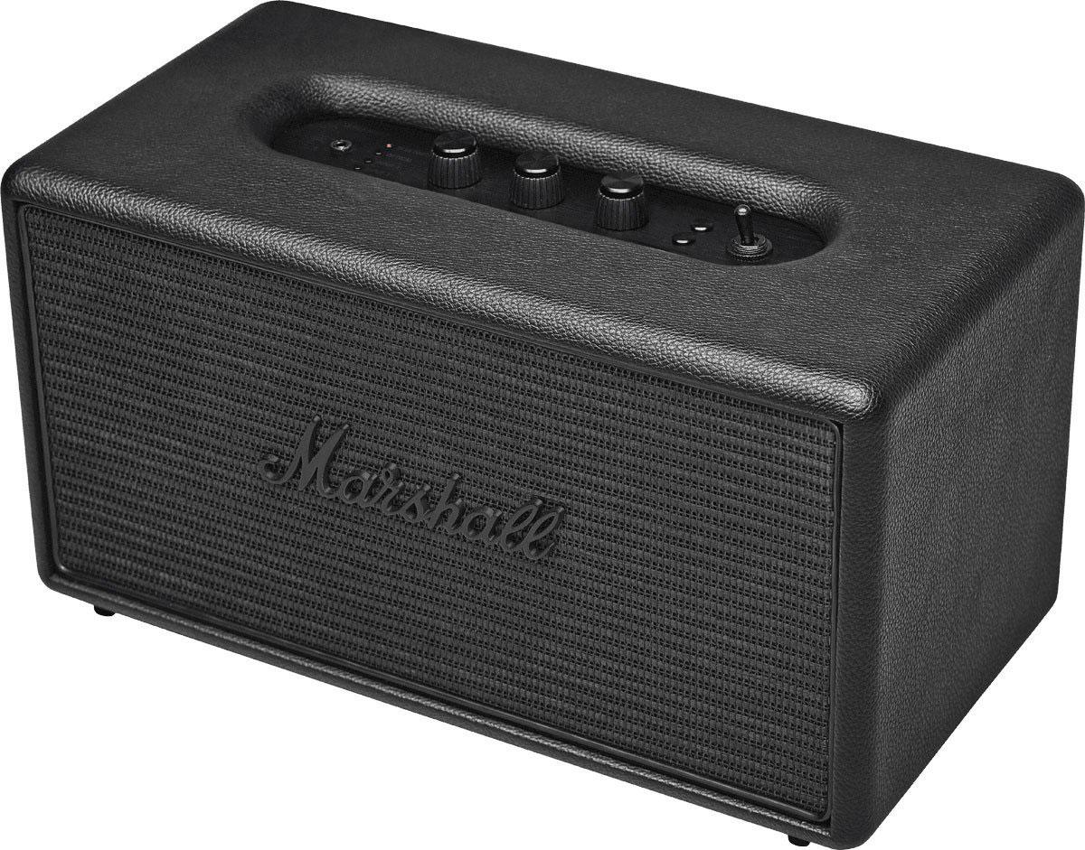 Marshall Stanmore Pitch, Black акустическая система7340055309769Marshall Stanmore Pitch – компактная акустическая система, созданная в классическом стиле Marshall по самым современным технологиям. Колонка совместима с большинством аудиоустройств, а небольшие размеры позволяют слушать музыку в любом месте. Для подключения можно использовать стандартный аудиоразъем 3,5 мм или Bluetooth-соединение. Marshall Stanmore радует совместимостью даже с Apple TV, а также другими устройствами, которые имеют оптический выход. С виду скромные динамики производят мощный детализированный звук даже при максимальном уровне громкости. Эксклюзивная акустика Marshall Stanmore Pitch снабжена аналоговыми регуляторами, дающими возможность производить пользовательскую настройку звука при прослушивании любимых музыкальных композиций. Акустическая система Stanmore Pitch работает как в стандартном, так и в энергосберегающем режимах. Marshall Stanmore Pitch – это возврат к золотым временам Rock'n'Roll. Это прекрасное решение для...