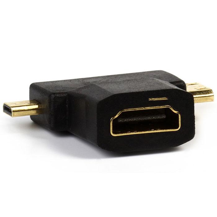 SmartBuy A119 HDMI адаптерA119Переходник SmartBuy A119 предназначен для подключения устройства с выходом micro HDMI, mini HDMI (планшета, смартфона, фотоаппарата, видеокамеры и т.п.) к монитору, телевизору или другому устройству со входом HDMI.