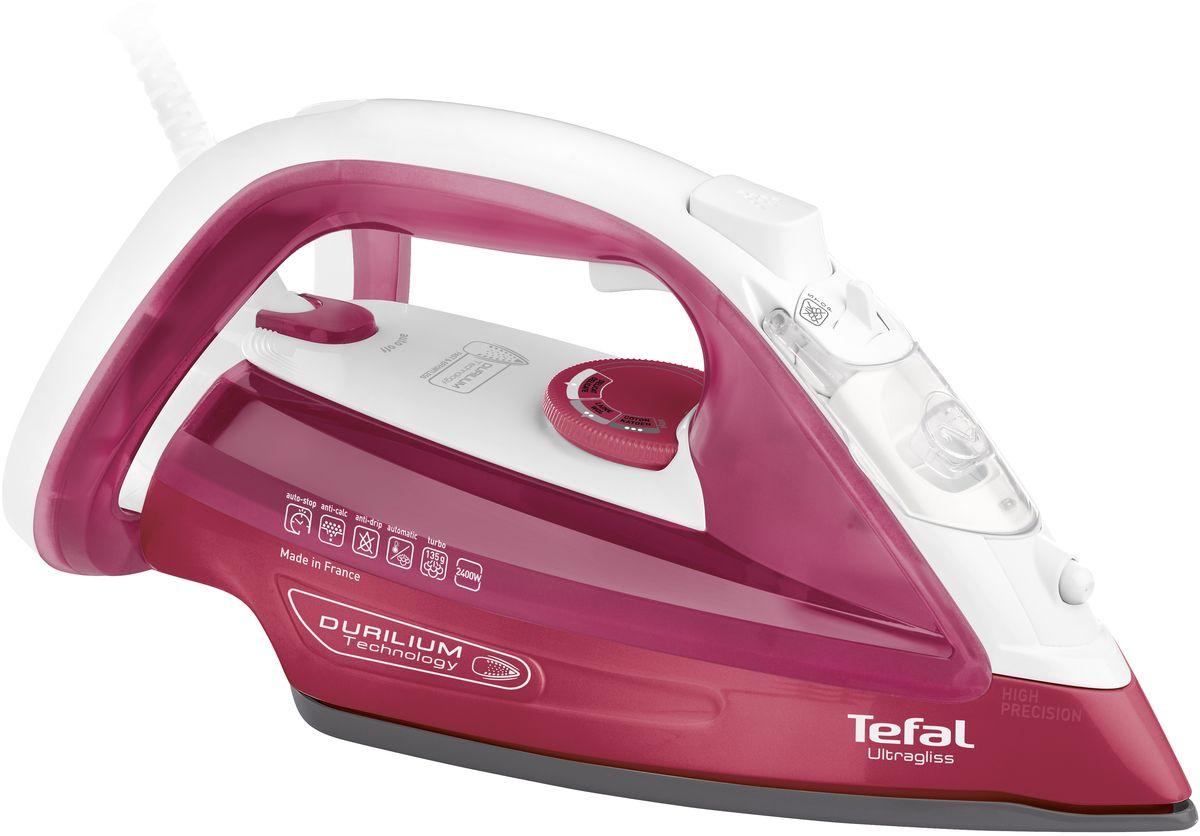 Tefal FV4920 Ultragliss утюгFV4920E0Tefal FV4920 Ultragliss - это современный и необходимый для каждой хозяйки прибор. Мощность модели довольно высока и составляет 2400 Вт, что обеспечивает высокую эффективность и скорость работы. Металлокерамическая подошва легко скользит по поверхности любого вида ткани.