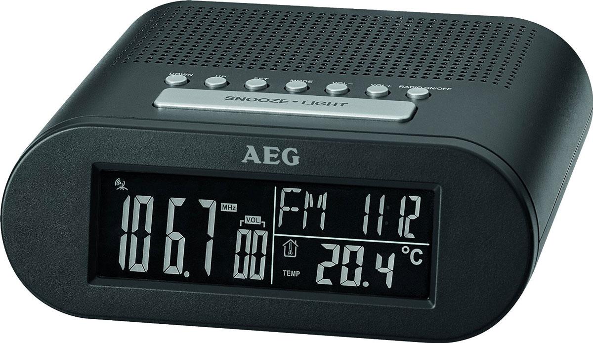 AEG MRC 4145 F, Black радиочасы