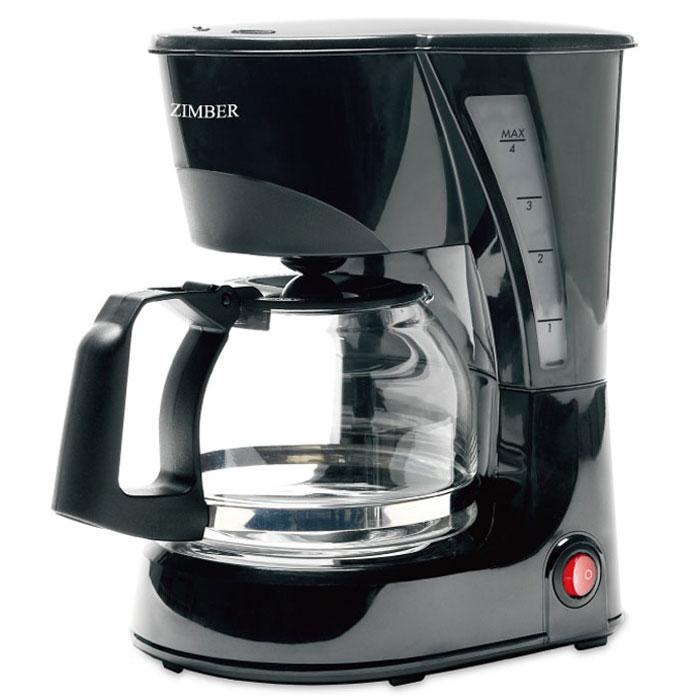 Zimber ZM-11008 кофеваркаZM-11008С помощью капельной кофеварки Zimber ZM-11008 вы сможете приготовить вкусный натуральный кофе. Кофеварка рассчитана на приготовление 600 мл кофе. Световой индикатор позволят отследить работу прибора. Zimber ZM-11008 имеет высококачественный пластиковый корпус и оснащен функцией поддержания тепла.