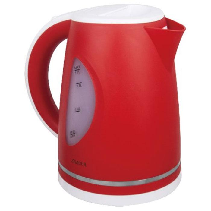 Zimber ZM-11027 электрический чайникZM-11027Zimber ZM-11027 - это мощная (2200 Вт) модель большого объема (1,7 л). С помощью этого чайника вы сможете приготовить чай на большую компанию за считанные минуты. Вращающийся корпус сделает использование чайника еще более удобным, а фильтр избавит от попадания накипи в чашку.