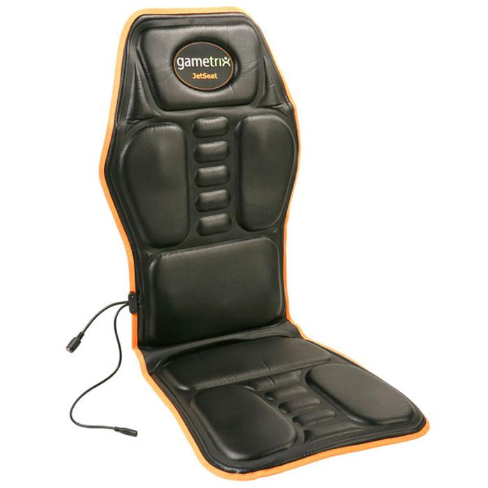 Gametrix KW-901 AIR JetSeat игровая вибронакидка15116193Gametrix KW-901 AIR JetSeat - уникальное игровое устройство, позволяющее перейти на новый уровень погружения в компьютерные игры. Теперь все взрывы, выстрелы, удары и столкновения вы будете чувствовать всем телом так, как будто сами находитесь в центре событий. Вибронакидка имеет 6 вибромоторов, подключается к USB порту и звуковому выходу. Имеется регулятор силы вибрации от звука. Во время работы за компьютером вы можете использовать функцию массажа, т.к. программное обеспечение накидки позволяет использовать ее как массажёр. Данная модель изготовлена из мягкого и прочного кожзаменителя и наполнена поролоном. Специальные ремни позволяют надежно закрепить накидку на кресле. Для получения максимального эффекта от режима перехвата рекомендуется использовать компьютерные колонки или наушники с регулятором громкости.
