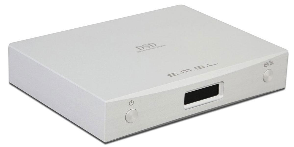 SMSL M8, Silver усилитель для наушников6970141850120SMSL M8 – это портативный аудио ЦАП, созданный на основе чипа Sabre ES9018K2M. Несмотря на свои размеры M8 отличается отличной функциональностью. В нем предусмотрено 3 входа: USB, коаксиальный и оптический. Устройство поддерживает такие форматы высокого разрешения, как PCM и DSD64/128. Уровень выходной мощности: 2,15 Vrms Соотношение сигнал/шум: >126 дБ Разделение каналов: >120 дБ