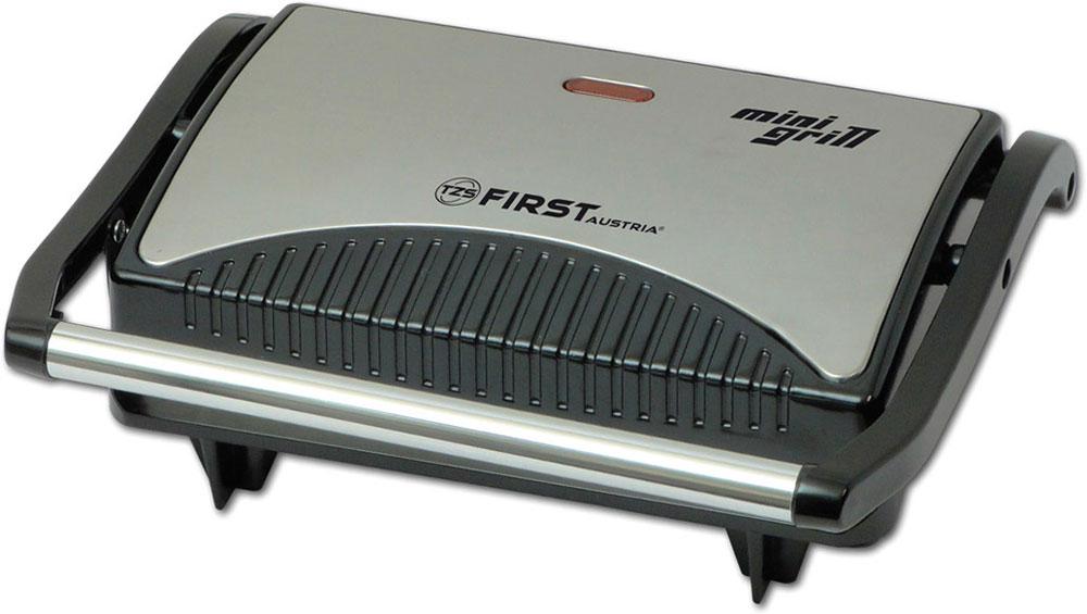 First FA-5343-1, Black электрогрильFA-5343-1 BlackЭлектрогриль First FA-5343-1 позволяет приготовить не только вкусную, но и полезную, низкокалорийную пищу. Крышка и ручка данной модели сделаны из нержавеющей стали, которая хорошо сочетается с черным, жаропрочным корпусом. На нижней части размещены прорезиненные ножки и вентиляционные отверстия. А нескользящие ножки обеспечивают устойчивое положение гриля при работе. Рабочей поверхностью гриля являются две жарочные плиты со специальными пластинами. Плавающее шарнирное соединение верхней крышки, позволяет поджаривать продукты разной толщины. Нагрев плит осуществляется за счет ТЭН-ов (трубчатых электронагревателей). Пластины имеют рифленую форму. Благодаря их антипригарному покрытию, продукты не приклеиваются к поверхности, а сами пластины легко поддаются очистке. Для удобства переноса и хранения First FA 5343-1 предусмотрена теплоизолированная ручка, зажим-фиксатор и приспособление для намотки сетевого шнура. Для контроля работы, имеются...