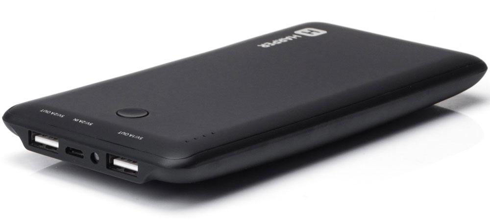 Harper PB-10001, Black внешний аккумуляторH00000958Внешний аккумулятор может похвастаться внушительной емкостью - 10000 мАч. Этого достаточно для полной подзарядки пяти смартфонов. Девайс оснащен двумя полноразмерными USB-портами, поэтому вы сможете сэкономить время и подзарядить сразу несколько устройств. Об уровне заряда сообщает специальный LED- индикатор. Кроме того, аккумулятор оснащен встроенным фонариком, что является весьма приятным бонусом.