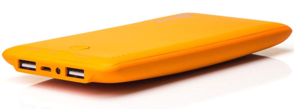 Harper PB-10001, Orange внешний аккумуляторH00000959Внешний аккумулятор может похвастаться внушительной емкостью - 10000 мАч. Этого достаточно для полной подзарядки пяти смартфонов. Девайс оснащен двумя полноразмерными USB-портами, поэтому вы сможете сэкономить время и подзарядить сразу несколько устройств. Об уровне заряда сообщает специальный LED- индикатор. Кроме того, аккумулятор оснащен встроенным фонариком, что является весьма приятным бонусом.