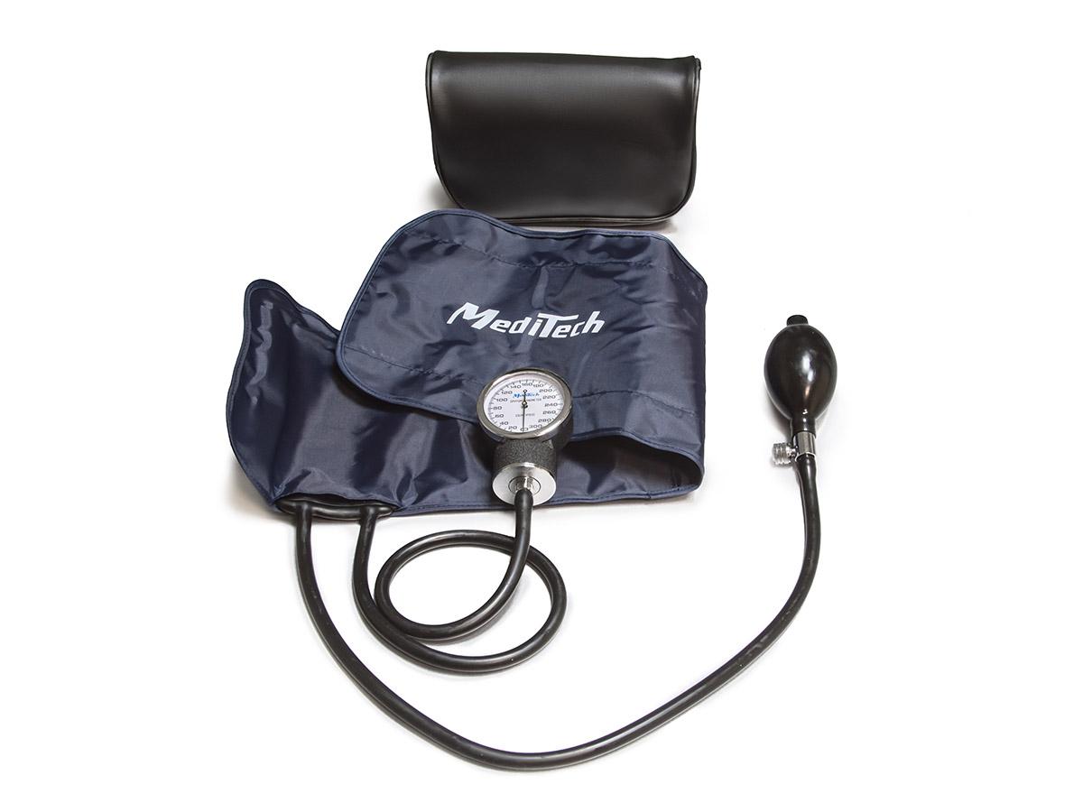 MediTech Механический тонометр без стетоскопа, манжета на окружность руки 25-40,5 см МТ-10-0