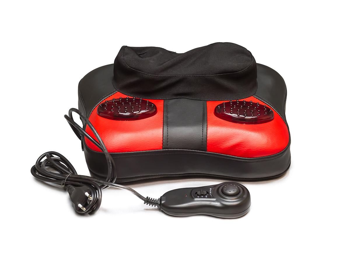 MediTech Аппарат массажный медицинский с двумя массажными валиками, имитирующими ручной массаж Шиацу и постукивание, с прогревом и выносным пультом КВВ-1000