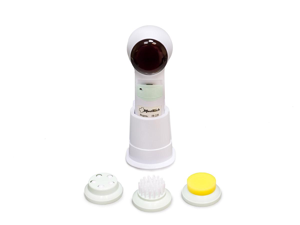 MediTech Портативный массажер для лица с инфракрасным прогревом и 3 сменными насадками (комплектуется зарядным устройством) FR-22R