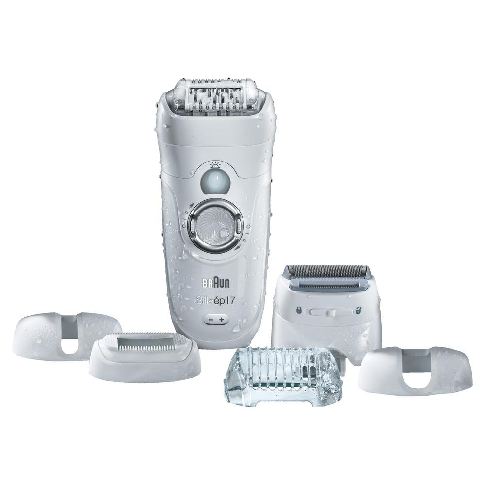 Braun Silk-epil 7 7-561 Wet & Dry эпилятор81483979Эпилятор Braun 7-561 WD для сухой и влажной эпиляции удаляет даже самые короткие и тонкие волоски длиной меньше 0,5 мм. Даже волоски размером с песчинку! 40 пинцетов технологии удаления коротких волосков Close-Grip Braun обеспечивают отличные рабочие характеристики и самое тщательное удаление волос. Так как устройство работает от аккумулятора его можно использовать как для сухой эпиляции, так и пользоваться им в ванной или душе для самой мягкой эпиляции. Эпилятор Braun 7-561 WD для сухой и влажной эпиляции имеет подвижную головку, которая двигается вперед и назад до 15 градусов. Это означает, что он может лучше повторять контуры тела, обеспечивая больший комфорт и максимальную тщательность. Кроме того, оптимальное положение при использовании гарантировано. Пальчики SoftLift эффективно приподнимает даже прилегающие к коже волоски и помогают направить их к пинцетам для удаления. Система подсветки SmartLight помогает упростить процесс эпиляции и не пропустить даже...