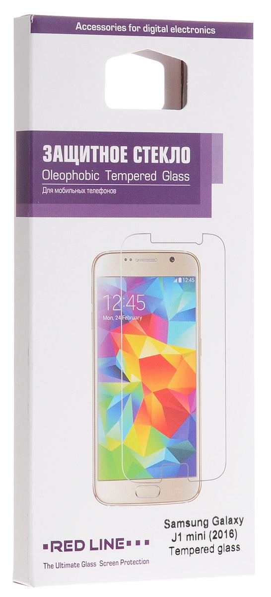 Red Line защитное стекло для Samsung Galaxy J1 mini (2016)УТ000008199Защитное стекло Red Line для Samsung Galaxy J1 mini предназначено для защиты поверхности экрана от царапин, потертостей, отпечатков пальцев и прочих следов механического воздействия. Оно имеет окаймляющую загнутую мембрану, а также олеофобное покрытие. Изделие изготовлено из закаленного стекла высшей категории, с высокой чувствительностью и сцеплением с экраном.