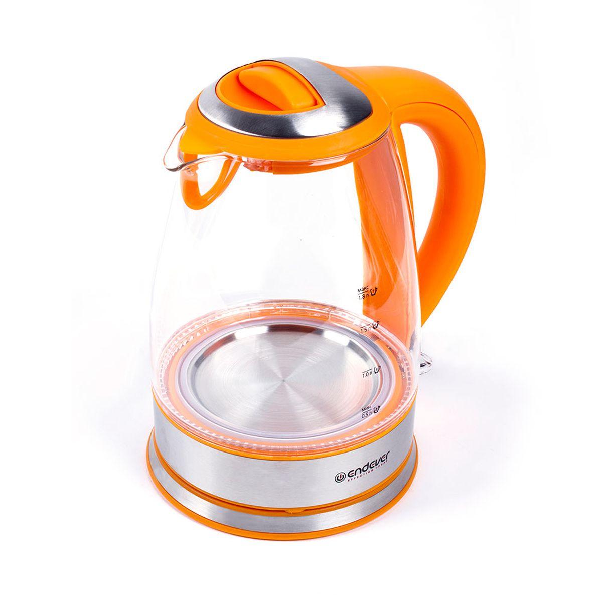Endever KR-317G Skyline чайник электрическийKR-317GEndever KR-317G Skyline - это мощная (2400 Вт) модель большого объема (1,8 л). С помощью этого чайника вы сможете приготовить чай на большую компанию за считанные минуты. Вращающийся корпус сделает использование чайника еще более удобным, а фильтр избавит от попадания накипи в чашку. Корпус из термостойкого ВIO-стекла исключает выделение вредных веществ, кислот и солей, сохраняет полезные свойства и природный вкус воды.