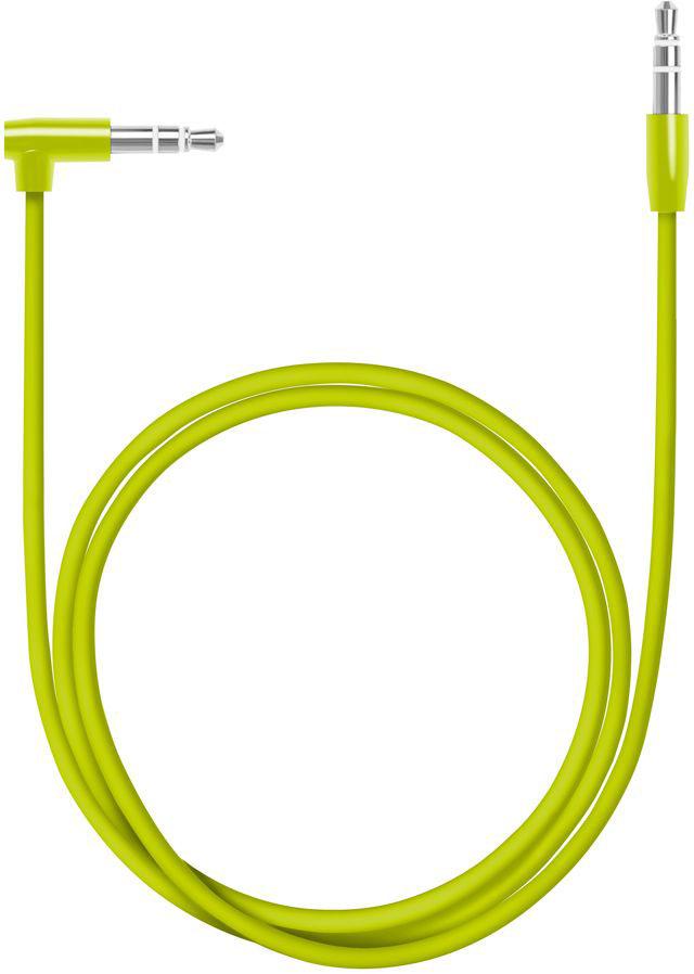 Deppa Aux Slim, Green аудиокабель (1,2 м)