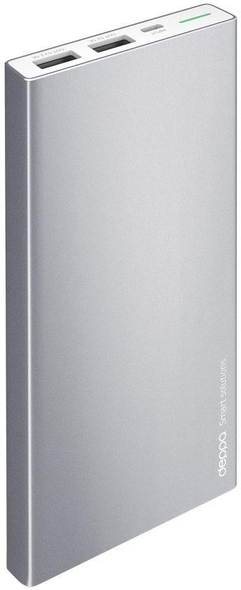 Deppa NRG Alum внешний аккумулятор (10000 мАч)33515Внешний аккумулятор Deppa NRG Alum, его строгий металлический корпус глубокого графитового цвета стильно сочетается с флагманскими смартфонами и планшетами. В комплект с аккумулятором входит стильный силиконовый чехол, который идеально повторяет корпус устройства и защищает его от повреждений. Включение и проверка текущего заряда NRG Alum работает по технологии Shake-to-power - для его активации достаточно встряхнуть корпус. Надежность и безопасность вашего устройства обеспечивают самые передовые технологии защиты аккумулятора. Внешние аккумуляторы NRG Alum совместимы с любыми мобильными и цифровыми устройствами с функцией заряда от USB-порта.