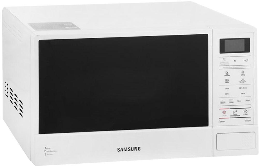 Samsung GE83DTR-1W, White СВЧ-печьGE83DTR-1WМинимальное время разморозки. Время разморозки сократилось до минимума. После размораживания очень часто часть продукта остается твердой как лед, в то время как другие части - мягкими. Технология быстрого размораживания, разработанная в компании Samsung, позволяет размораживать продукты быстро и равномерно, не ухудшая питательных свойств продуктов. Три волны лучше одной. Инженеры компании Samsung постоянно совершенствуют и улучшают рабочие характеристики своей продукции, используя для этого самые новейшие технологии. Наша уникальная система тройного распределения микроволн (Triple Distribution System) обеспечивает равномерный прогрев продуктов, начиная от пиццы и заканчивая подогревом стакана молока. Пользуясь нашими микроволновыми печами, вы оцените удобство и комфорт процесса приготовления самых разнообразных блюд. Продукты всегда имеют свежий и аппетитный вид. Применение БИОкерамической эмали - следующий шаг...
