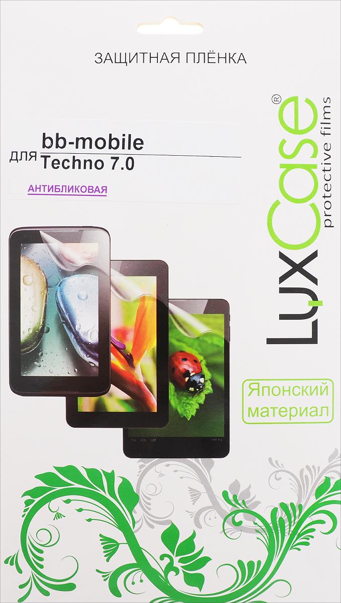 LuxCase защитная пленка для BB-mobile Techno 7.0, антибликовая55470Защитная пленка LuxCase для BB-mobile Techno 7.0 сохраняет экран планшета гладким и предотвращает появление на нем царапин и потертостей. Структура пленки позволяет ей плотно удерживаться без помощи клеевых составов и выравнивать поверхность при небольших механических воздействиях. Пленка практически незаметна на экране смартфона и сохраняет все характеристики цветопередачи и чувствительности сенсора.