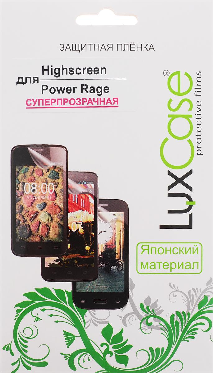 LuxCase защитная пленка для Highscreen Power Rage, суперпрозрачная51547Защитная пленка LuxCase для Highscreen Power Rage сохраняет экран смартфона гладким и предотвращает появление на нем царапин и потертостей. Структура пленки позволяет ей плотно удерживаться без помощи клеевых составов и выравнивать поверхность при небольших механических воздействиях. Пленка практически незаметна на экране смартфона и сохраняет все характеристики цветопередачи и чувствительности сенсора.