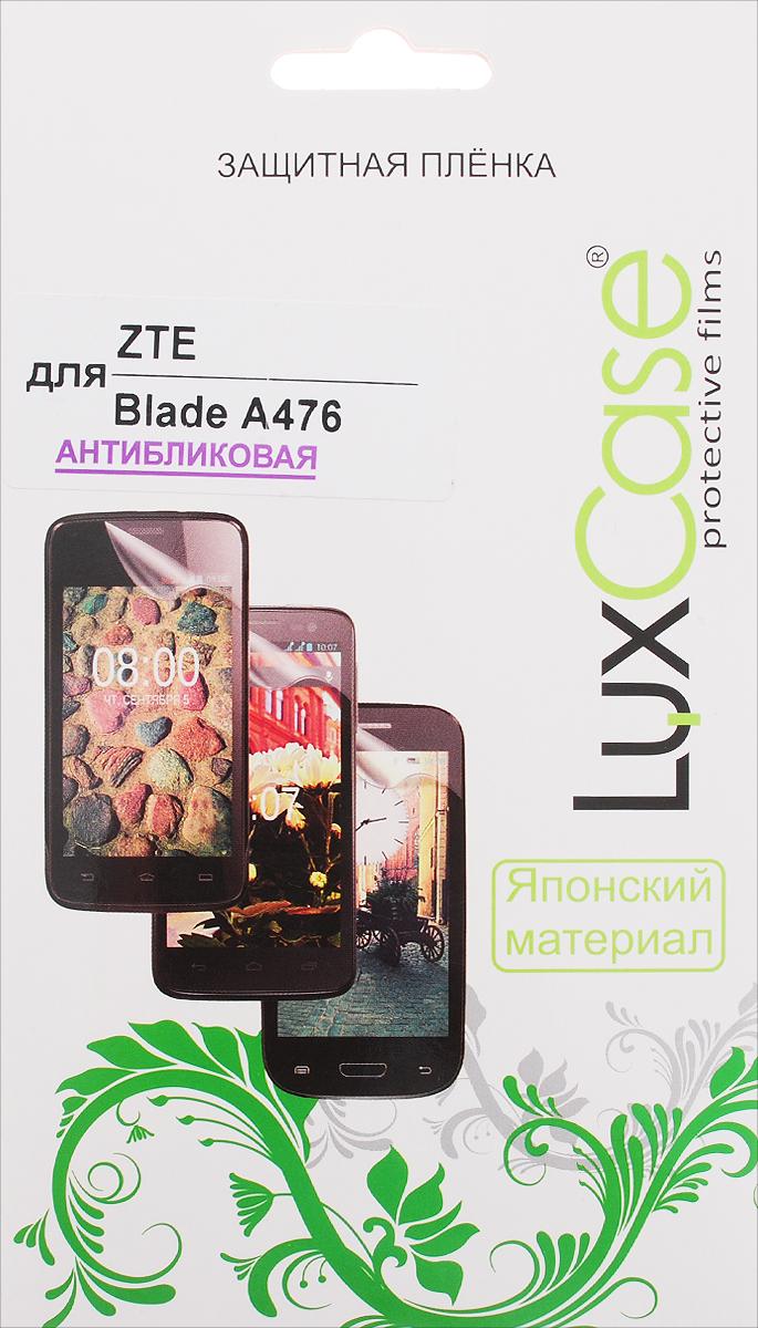 LuxCase защитная пленка для ZTE Blade A476, антибликовая51449Защитная пленка LuxCase для ZTE Blade A476 сохраняет экран смартфона гладким и предотвращает появление на нем царапин и потертостей. Структура пленки позволяет ей плотно удерживаться без помощи клеевых составов и выравнивать поверхность при небольших механических воздействиях. Пленка практически незаметна на экране смартфона и сохраняет все характеристики цветопередачи и чувствительности сенсора.