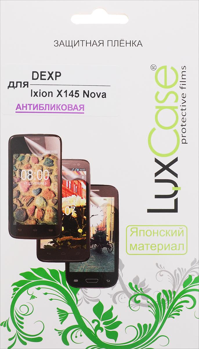 LuxCase защитная пленка для DEXP Ixion X145 Nova, антибликовая55334Антибликовая защитная пленка LuxCase для DEXP Ixion X145 Nova сохраняет экран устройства гладким и предотвращает появление на нем царапин и потертостей. Структура пленки позволяет ей плотно удерживаться без помощи клеевых составов и выравнивать поверхность при небольших механических воздействиях. Пленка практически незаметна на экране гаджета и сохраняет все характеристики цветопередачи и чувствительности сенсора.