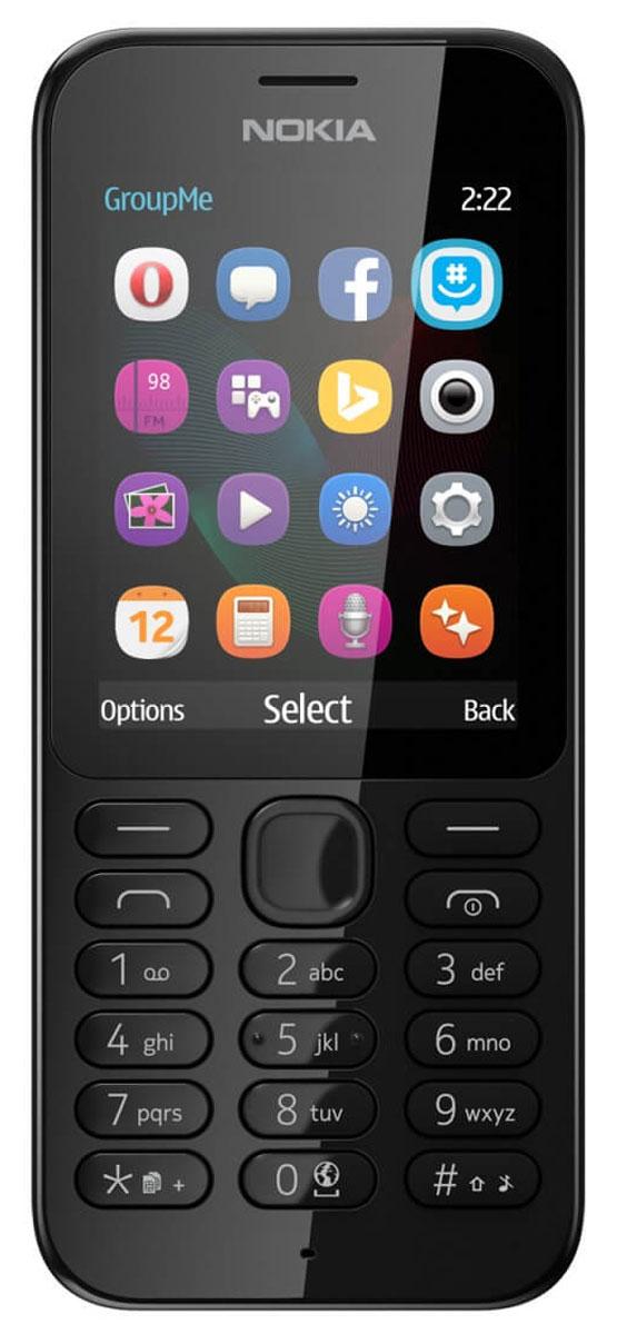 Nokia 222 SS, BlackNokia 222 BlackРаботайте в Интернете, говорите и обменивайтесь сообщениями с помощью надежного мобильного телефона с камерой Nokia 222 SS. Фотографируйте с помощью Nokia 222 все, что происходит вокруг. Задняя камера 2 Мпикс позволяет делать отличные снимки. Используйте Facebook или GroupMe by Skype для обмена фотографиями с друзьями и близкими. Находите нужную информацию, с помощью браузера Opera Mini, приложения MSN Погода и поисковой системы Bing. Общайтесь с друзьями и узнавайте новости с помощью Facebook, Twitter и Messenger. Каждый месяц на протяжении года вы можете бесплатно загрузить одну игру Gameloft. Такие игры, как Asphalt 6, Real Football, The Amazing Spiderman и Modern Combat 2, предлагаются с пробной лицензией. Проводите свободное время весело с играми на вашем телефоне. Вам понравится черная или белая глянцевая отделка. Клавиатура соответствующего цвета дополняет классический дизайн, придавая телефону совершенный вид. ...