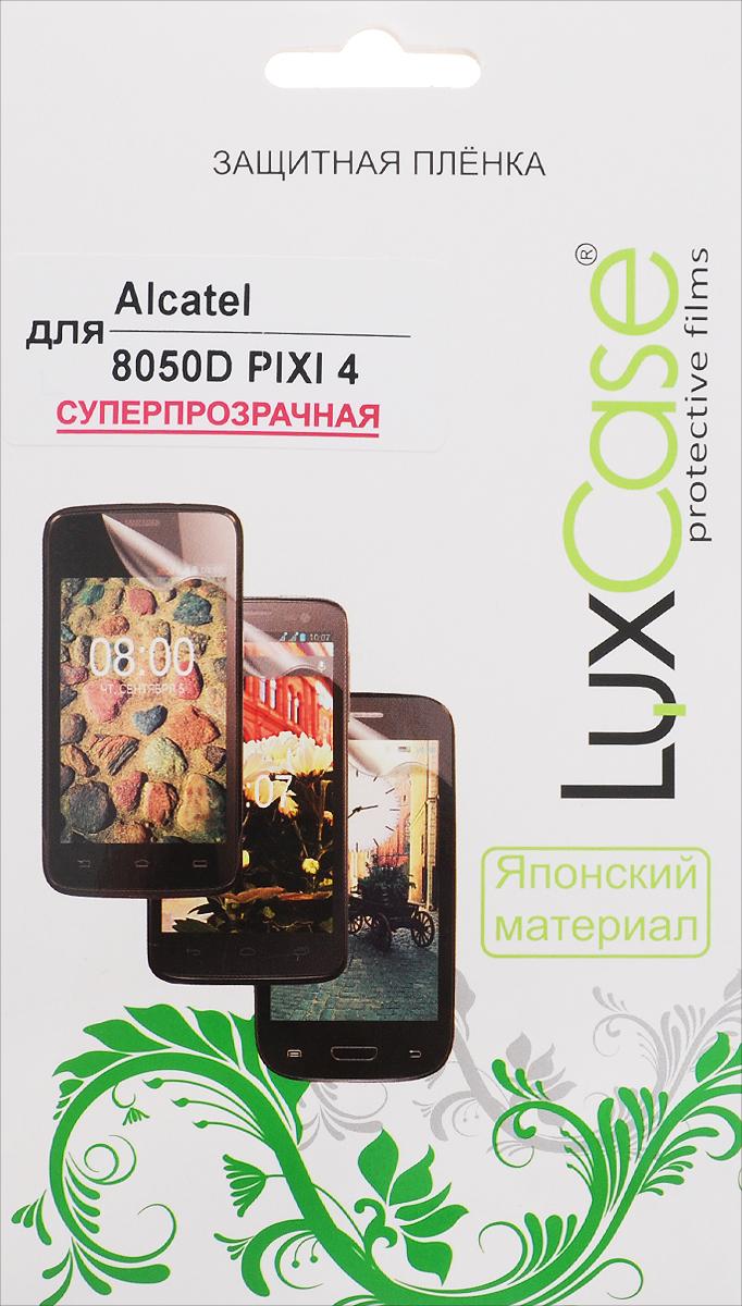 LuxCase защитная пленка для Alcatel 8050D Pixi 4, суперпрозрачная51375Защитная пленка LuxCase для Alcatel OneTouch Pixi 4 6.0 (8050D) сохраняет экран смартфона гладким и предотвращает появление на нем царапин и потертостей. Структура пленки позволяет ей плотно удерживаться без помощи клеевых составов и выравнивать поверхность при небольших механических воздействиях. Пленка практически незаметна на экране смартфона и сохраняет все характеристики цветопередачи и чувствительности сенсора.